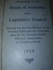 1924 Proceedings of House of Assembly St. John's Newfoundland image 2