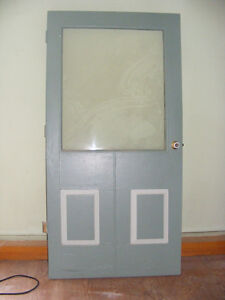 Large solid plank door...old