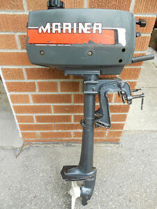 LIGHTWEIGHT MARINER 2 HP OUTBOARD MOTOR