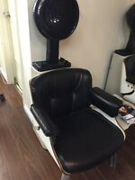 Hood hair dryer with Eames style chair