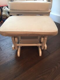 Nursing chair with stool