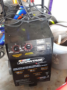 Battery Charger with Engine Start and Battery Tester