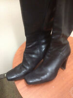 9 West Leather boots size 9 1/2