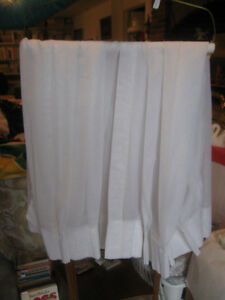 ONE PAIR of WHITE SHEER CURTAINS..PINCH PLEATS