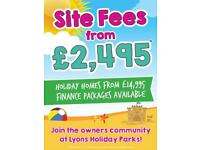 Lyons Robin Hood holiday park! Site fees from 2,495! Fixed for 2019 + 2020!!!!