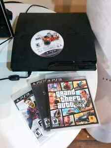 PS3 with 4 games and controllers