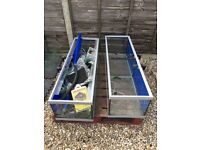 Pair of high quality fish tanks