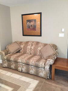 Couch, Love Seat and Picture