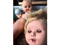 Job Lot Of Vintage Dolls they are Cute Creepy Scary Looking Ideal For Movies Props Etc