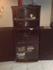 KENWOOD  stereo system with stand.