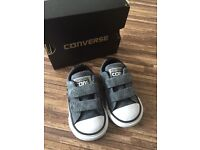 Grey Converse All Stars infant size 3. Immaculate