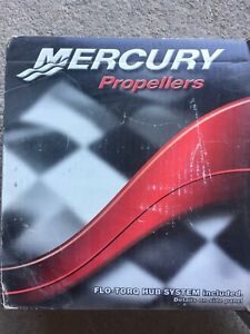 New in box Mercury black max 12.5x 8 propeller