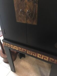 Asian Inspired hand painted cabinet -  Multi functional