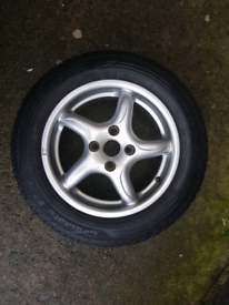 14inch alloy wheel with new tyre