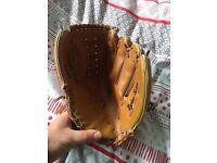 1985 baseball glove real leather