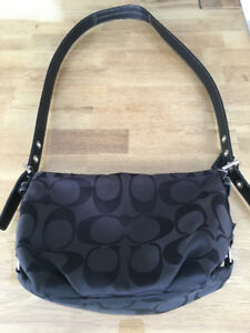 Coach - Black Monogrammed Shoulder Bag