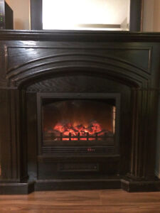 used freestanding electric fireplace