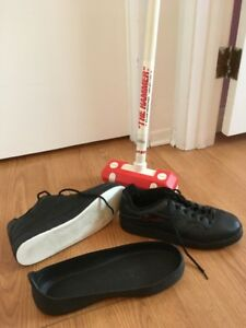 Curling Shoes and Broom