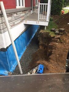 Excavation Dalpé inc. Drain français, Membrane, Coffrage, Béton Saint-Hyacinthe Québec image 10