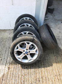 Ford 17 inch snowflake alloys 215,50,17