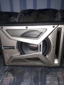 10 inch hertz subwoofer with sub box