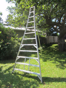 12 FT. ALUMINUM TRIPOD ORCHARD LADDER - REDUCED - needs to go
