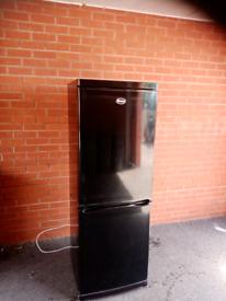 Swan Black fridge freezer