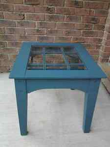 Small  glass top table.