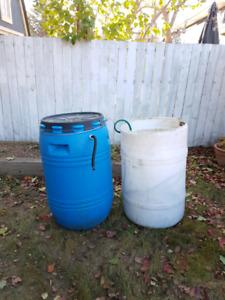 Two Rain Barrels