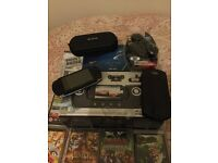 PSP 1003 G1 Giga pack boxed 12 games 9 films and sound system still in box swap computer desk table