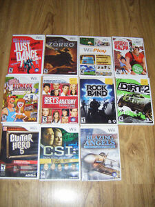 11 Wii games for sale