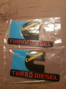 Cummins badges.