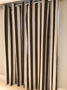 Two Full Length Curtains with Grommets