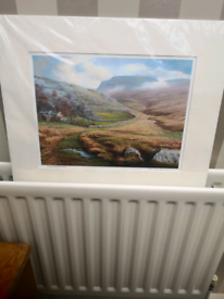 Unframed signed by artist watercolor