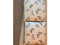 Pair of gorgeous butterfly cushions