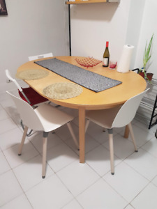 extendable dining table round - ikea
