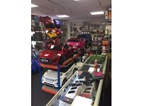 KIDS OFFICIAL RIDE ON CARS.LARGE SELECTION OF CARS IN STOCK. OPEN 7 DAYS 11am till 7.30pm
