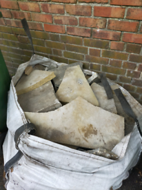 FREE broken paving slabs - RE-STOCKED, crazy pavers, patio self serve,