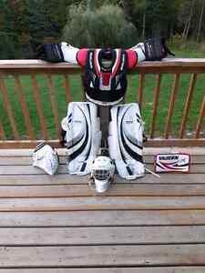 Mint used goalie equipment