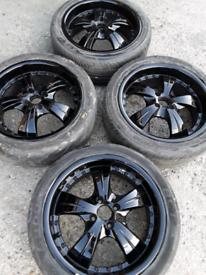 """17"""" Dezent Vauxhall Corsa alloy wheels (040)"""