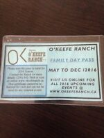 Family Day Pass for O'Keefe Ranch