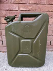Steel 20 litre Jerry can olive green