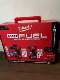 Milwaukee power drill and driver