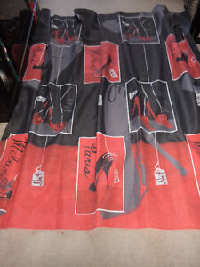 fabric shower curtain.. exc clean cond.