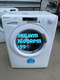 Candy 9kg washing machine free delivery in Coventry