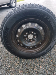 "15"" Hankook Studded Winter Tires (205/70R15) Lots of Tread!!"