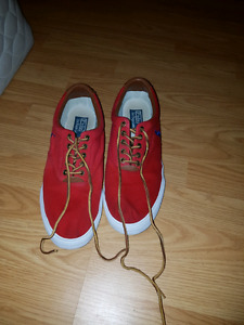 Red polo shoes