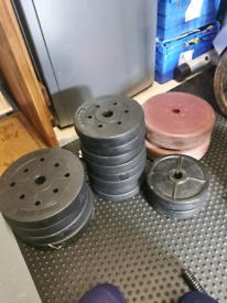 65kg Weight Plates, dumbells, Barbell, spinlocks