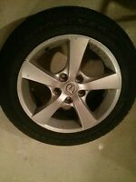 4 ALLOY RIMS WITH TIRES (AND BONUS SPARE TIRE)