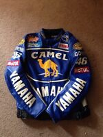 Valentino Rossi leather motorcycle jacket